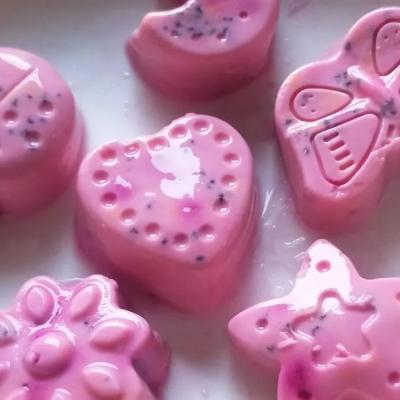 可爱可甜生酮火龙果味果冻--健酮食谱